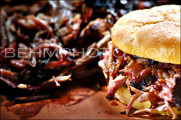 Pulled Pork Sandwich-Black Hog BBQ
